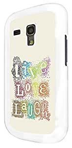 272 - Shabby Chic Floral Live Love Laugh Design For Samsung Galaxy S3 Mini Fashion Trend CASE Back COVER Plastic&Thin Metal