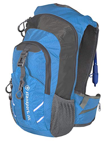 Stansport 20 Liter Water Bladder Daypack, Blue/Grey