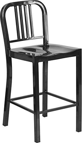 Flash Furniture 24 Black Metal Counter Height Stool