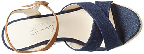 Another Pair of Shoes Werinae2, Sandalias con Cuña para Mujer Azul (Navy78)