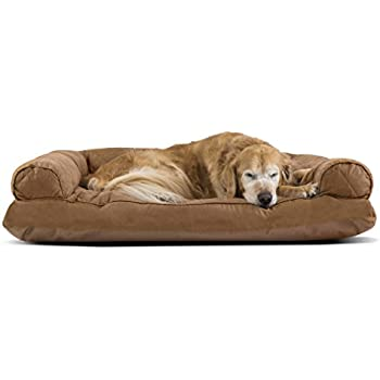 Amazoncom FurHaven Jumbo Quilted Orthopedic Sofa Pet Bed for