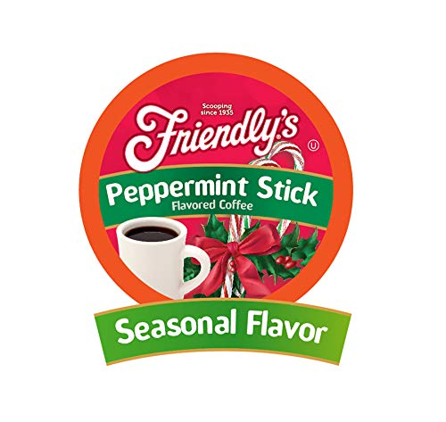 Friendly's Flavored Coffee Pods for Keurig K Cup Brewers, Peppermint Stick, 40Count]()