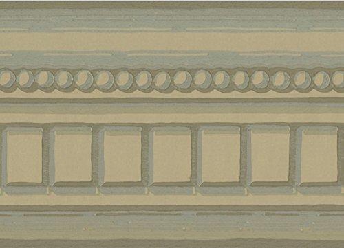 York Wallcoverings Hazel Wood Beige Abstract Wallpaper Border French Design, Roll 15' x 5