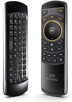 Rii Mini I25 - Mini teclado Air Mouse y mando a distancia por infrarrojos inalámbrico (Azerty), con ratón giratorio, para Android TV Box, Mini PC, HtPC, Smart TV: Amazon.es: Electrónica