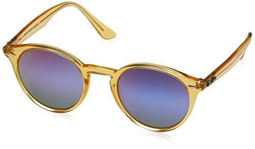 Ray-Ban RB2180 6277B1 Non-Polarized Sunglasses, Shiny Yellow, - Ray Yellow Clubmaster Ban