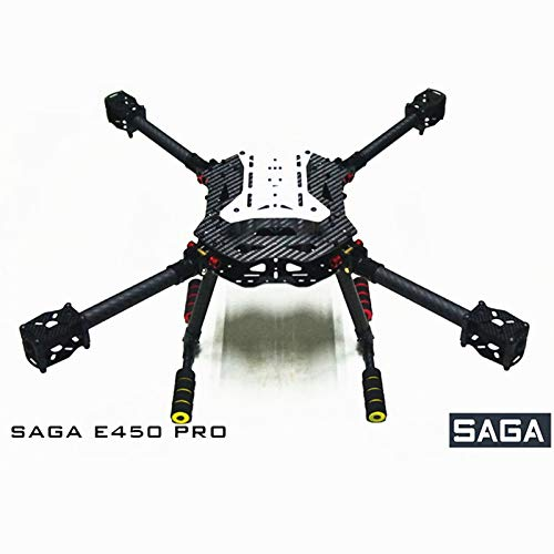 Hockus Accessories SAGA E450PRO Drone Frame Kit Carbon Fiber Folding Four-axis Aircraft X4X8 Multi-Rotor Open Source Drone Kit with Landing Gear (Best Open Source Drone)