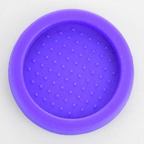 エスプレッソコーヒータンプマットフルートシリコーンコーヒー改ざんコーナーパッドマットツールバリスタのために作られたドロップエッジ - 紫
