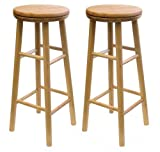 Winsome Wood 88830 Oakley Stool, 30″, Natural
