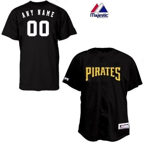 newest 815a4 4e31b Majestic Authentic Sports Shop Pittsburgh Pirates Full-Button Custom or  Blank Back Major League Baseball Cool-Base Replica MLB Jersey