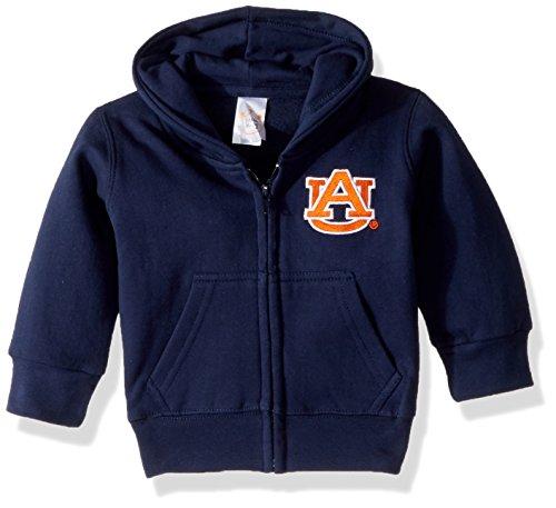 NCAA Auburn Tigers Full Zip Hooded Fleece Jacket, 4 Tall, Navy