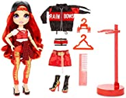 Rainbow Surprise Rainbow High Ruby Anderson – Red Fashion Doll with 2 Outfits