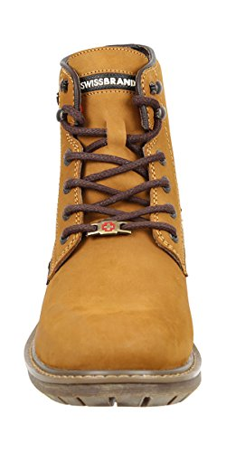 top Lace Hiking Backpacking Hight Mens Gold Swissbrand and Up Boot T1B8gBc