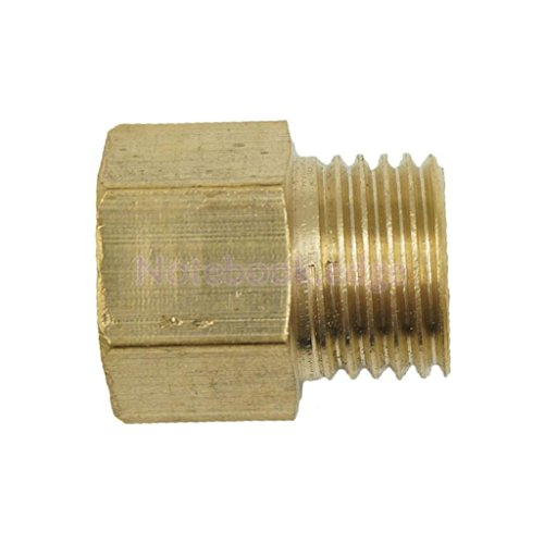 1/4-1/4 Inch Brass Barbed Female to Male Threaded Fitting Connector Adapter