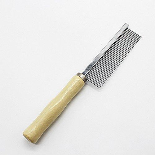 [Grooming Dog Cat Rabbit Pet Hair Wooden Handle Comb Practical Tool Stainless Steel Teeth] (Megaman Halloween Costume)