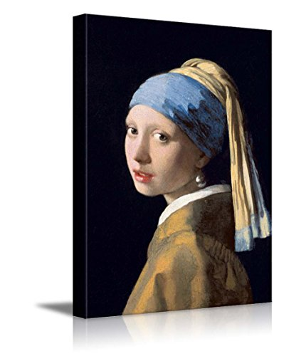 wall26 Girl with a Pearl Earring by Johannes Vermeer Giclee Canvas Prints Wrapped Gallery Wall Art | Stretched and Framed Ready to Hang - 16