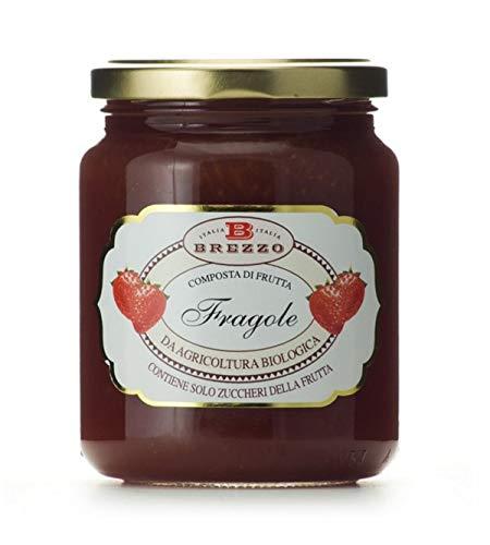 Brezzo - Compota orgánica de fresas sin azúcar añadido 390gr.