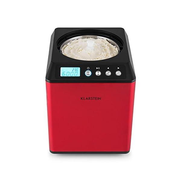 Klarstein Vanilla Sky - Macchina per Gelato, Funzione di Raffreddamento, Timer, 30-40 min, Display LED, Facile da Pulire… 5 spesavip