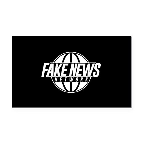 CafePress - Fake News Network - Rectangle Car Magnet, Magnetic Bumper Sticker