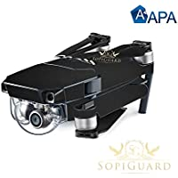 SopiGuard APA Ultra Matte Black Precision Edge-to-Edge Coverage Vinyl Skin Controller Battery Wrap for DJI Mavic Pro
