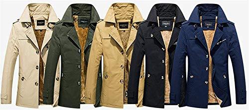 Lunga Lungo Giacca Da Grün Soprabito Coat Invernale Cappotto Caldo Abiti Trench Comode Capispalla Manica Taglie Fashion Uomo Hx Monopetto qg4Iw71