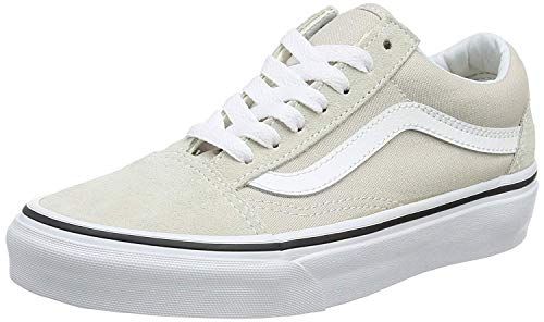 Vans Unisex Adults Old Skool Classic Suede/Canvas Sneakers, Beige (Silver Lining/True White), 11 UK (46 ()