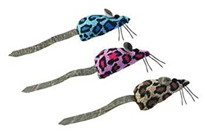 Ethical Plush Crazy Spots Mice Catnip Cat Toy 2-Pack