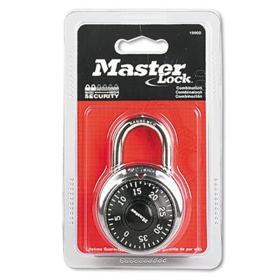 Combination Lock, Stainless Steel, 1 15/16'''' Wide, Black Dial, Sold as 1 Each