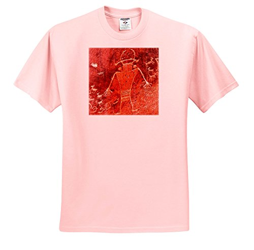 Danita Delimont - Artwork - Fremont Petroglyphs Carvings, Capitol Reef NP, Torrey, Utah - T-Shirts - Youth Light-Pink-T-Shirt XS(2-4) (TS_260381_43)