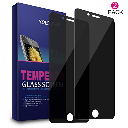 iPhone 6s Plus Screen Protector, SOWTECH 2 Pack Premium Privacy Anti-Spy Tempered...