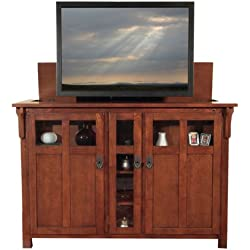 Touchstone 70062 Bungalow TV Lift Cabinet, Arts & Crafts/Mission Chestnut Finish, Fits Flat Screen TVs Up to 60""