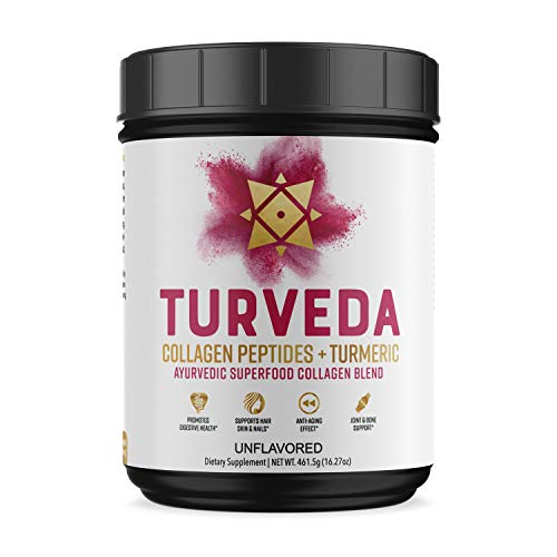 Turmeric Curcumin Plus Collagen Peptides Youth Blend, 11grams Grass Fed Pure Collagen and 250milligrams Full Spectrum Turmeric Curcumin per Serving (40 Servings), Super Youth Blend for Healthy Skin
