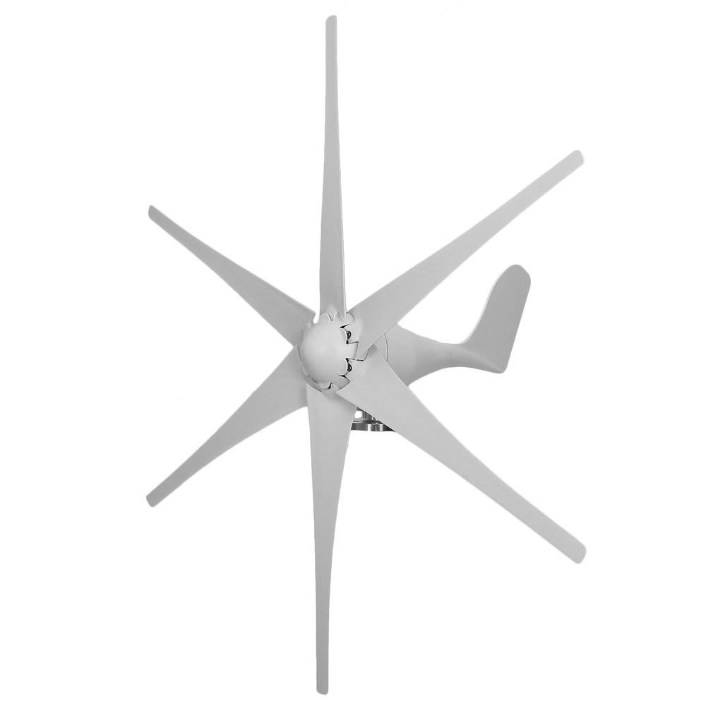 Comcastle Wind Power Turbine Generator 500W 48V 6 Nylon Fiber Blades for Marine RV Homes Industrial Energy,Automatically Adjust The Wind Angle (White) by Comcastle