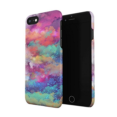 Colourful Space Dust Pattern Hard Plastic Phone Case For iPhone 7 & iPhone 8 - Pattern Hard Plastic Mobile