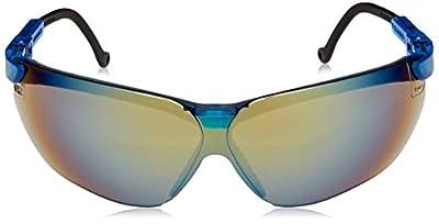 Uvex S3243 Genesis Safety Eyewear, Vapor Blue Frame, Gold Mirror Ultra-Dura Hardcoat Lens