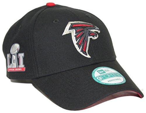 New Era NFL Atlanta Falcons Men's The League Super Bowl Li Side Patch 9FORTY Adjustable Cap, One Size, Black (Cap Falcons Atlanta)