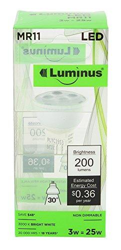 Luminus PLYC1953 MR11 3W 200-Lumen Bright White 3000K Non...