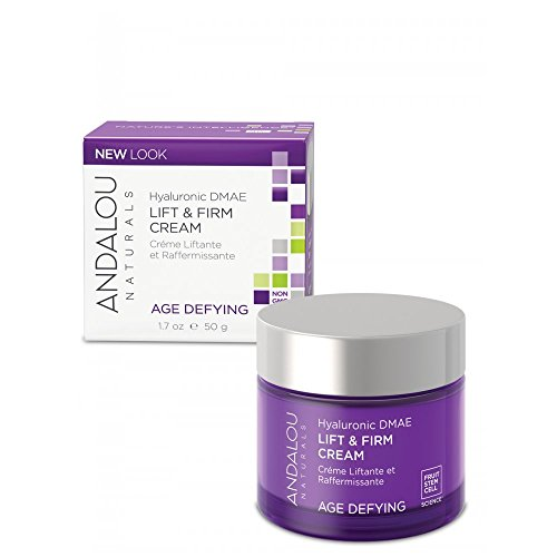 Andalou Naturals Hyaluronic DMAE Lift and Firm Cream, 1.7 Ounce Pack of 2