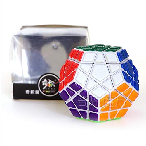 Geduldspiele QIJI QJ Dodecahedron Wumofang 3x3 Magic Cube Puzzle Cube For Competition White