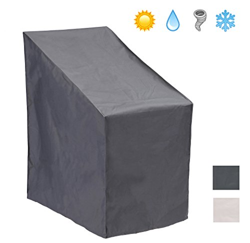 Patio Watcher Patio Chair Cover All Weather Protective Patio Furniture Cover Stack 6 Outdoor Chair Cover(Grey) (Stacking Chair Cover)
