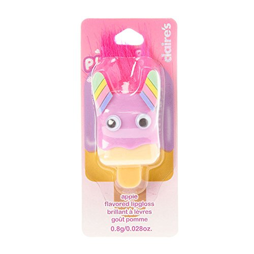 Pucker Pops Claire's Girl's Rainbow Monster Apple Flavored Lip Gloss