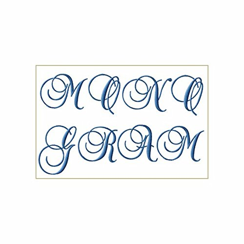 Machine Embroidery Design Monogram Font - 8