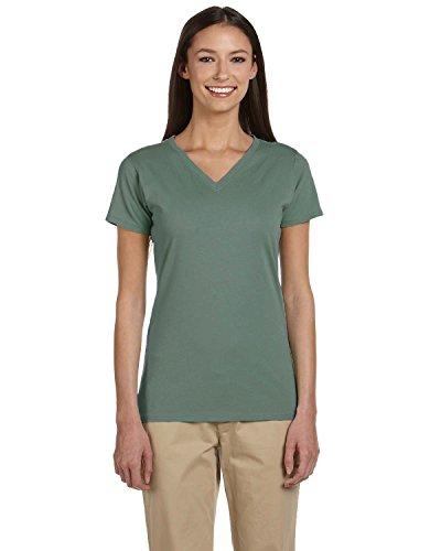 Econscious Ladies Organic Cotton V-Neck T-Shirt, BLUE SAGE, X-Large
