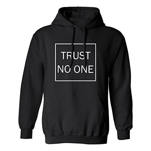 zerogravitee Trust No One Adult Hooded Sweatshirt In Black - (1 Adult Hooded Sweatshirt)