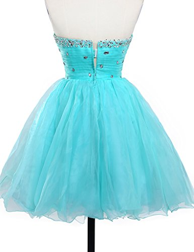 JAEDEN Girls Sweetheart Short Prom Dress Mini Party Homecoming Dress Blue UK30: Amazon.co.uk: Clothing