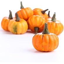 Factory Direct Craft Realistic Fall Mini Artificial Pumpkins - Package of 16 Pumpkins