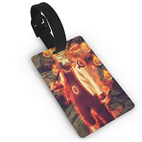 SWDFFG Luggage ID Tags- Stylish Cool Naruto Print PVC Suitcase Bag Labels Travel Accessory ()