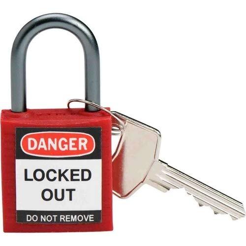 Brady 143150, Compact candado de seguridad, rojo (Pack de 12 unidades): Amazon.es: Amazon.es