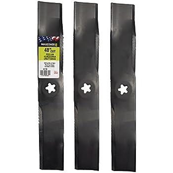 Amazon.com: 3 giratorio® mulching Mower Blades – ayp/Roper ...