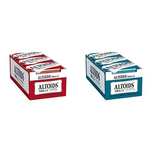 Altoids Smalls Peppermint & Wintergreen Combo Pack 18Count (9 Of Each) by Altoids