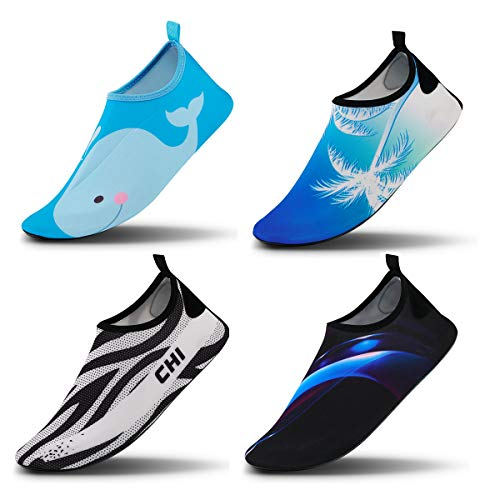 Vaincre Womens and Mens Water Shoes Barefoot Quick-Dry Aqua Socks for Beach Swim Surf Yoga Exercise (Women:10-11/Men:8-8.5) from Vaincre